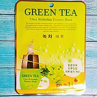 Тканевая маска для лица с экстрактом зеленого чая Malie Green Tea Ultra Hydrating Essence Mask 25мл