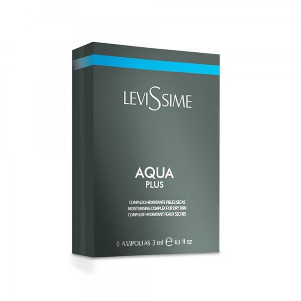 Levissime Aqua Plus. Зволожуючий комплекс в ампулах для шкіри обличчя, 6*3мл.
