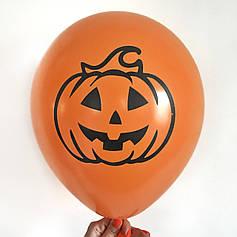 """0306 Шар 12"""" (30 см) Хэллоуин Тыква на оранжевом Артшоу"""