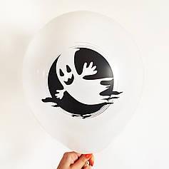 """0307 Шар 12"""" (30 см) Хэллоуин Привидение на белом Артшоу"""