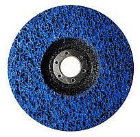 """Круг зачисний Polystar Abrasive """"Водорості"""" з нетканого абразиву, синій, 125*22 мм (PAS125-22)"""