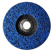 """Зачистной круг Polystar Abrasive """"Водоросли"""" из нетканого абразива, синий, 125*22 мм (PAS125-22)"""
