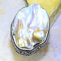 """Жемчужное кольцо  """"Море"""" с  жемчугом, размер 18,8  от студии LadyStyle.Biz, фото 1"""
