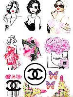 Вафельная картинка визитки