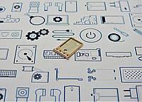 Держатель сим карты 2 Xiaomi Redmi 5A золотой Сервисный оригинал с разборки