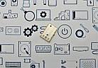 Держатель сим карты 2 Xiaomi Redmi 5A золотой Сервисный оригинал с разборки, фото 2