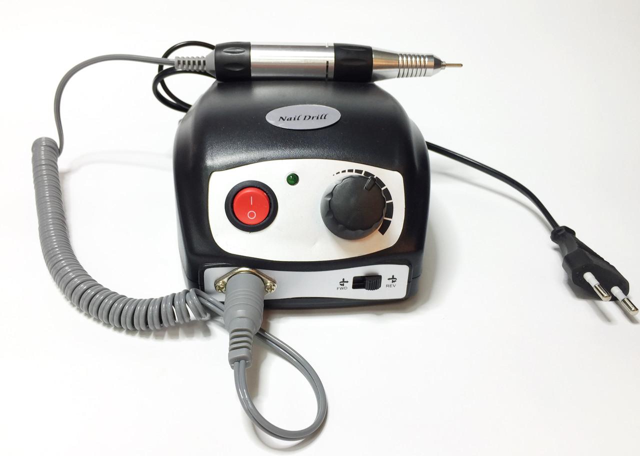 Фрезер Nail Polish DM-207 на 35000 об/мин 45Вт для маникюра с педалью Черный
