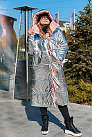 """Двусторонний женский пуховик-одеяло  """"Canada"""" с капюшоном (большие размеры)"""