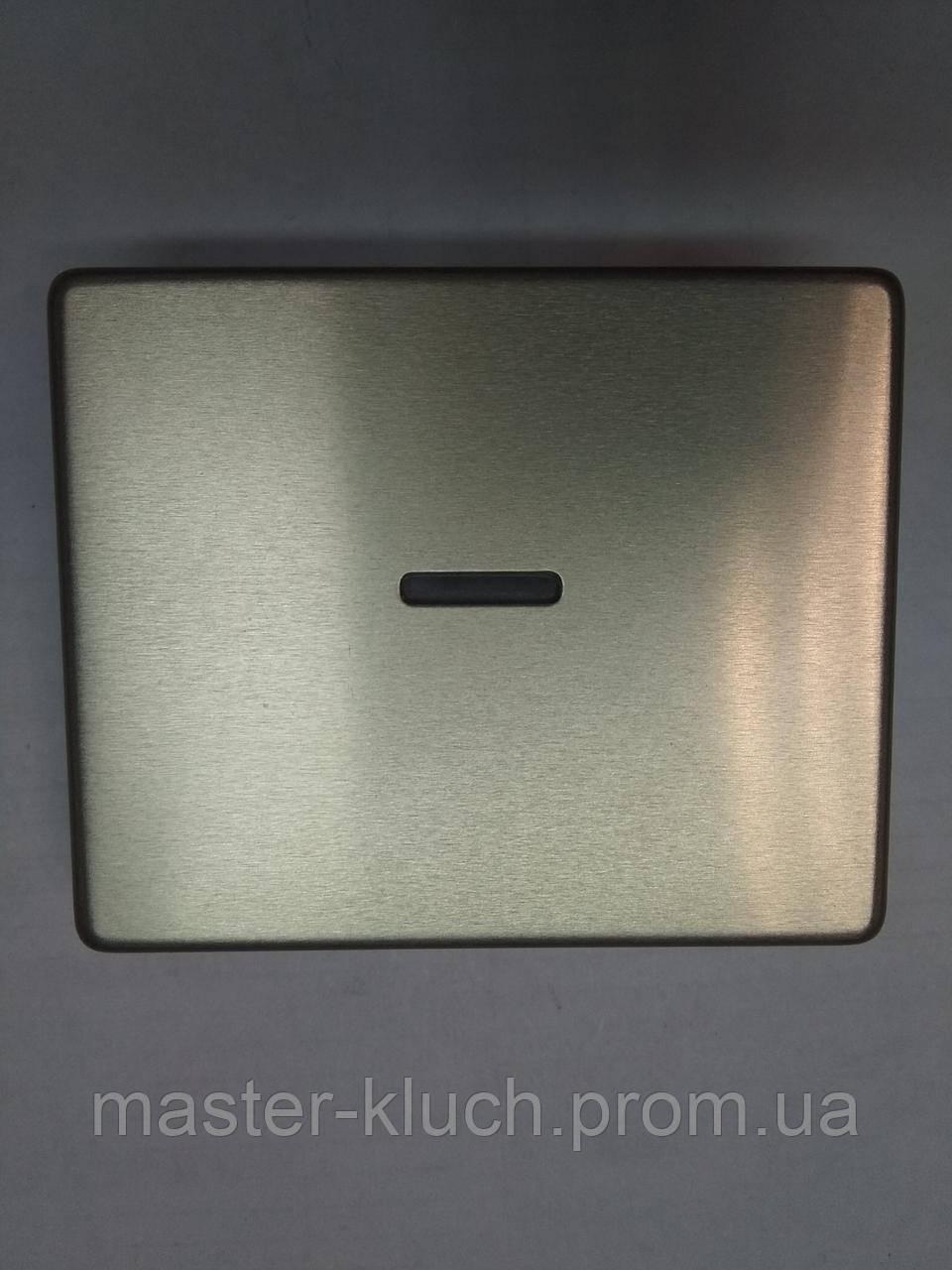 Выключатель одноклавишный с подсветкой Jung SL-500 накладка, фото 1