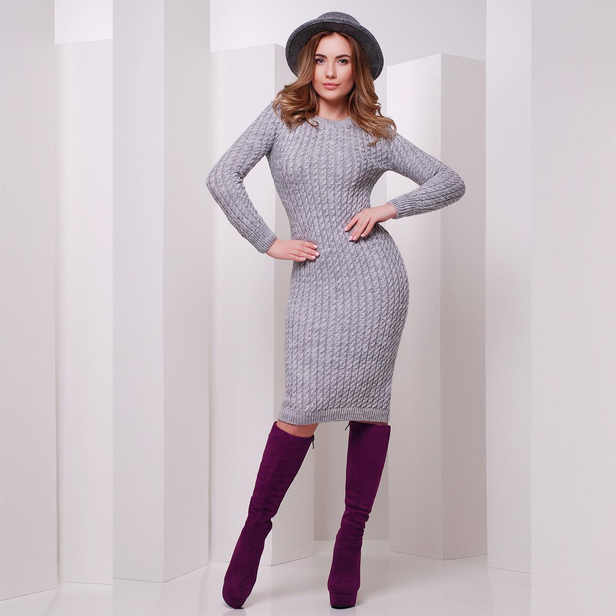 "Платье женское тёплое вязаное ""Аурика"""