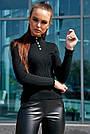 Классический чёрный гольф женский, р.42-46, вязка, фото 3