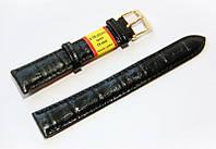 Ремешок для наручных часов кожаный Modeno Spain с классической застежкой, черный, 18 мм