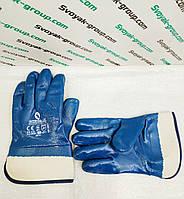 """Перчатка маслостойкая (синяя) """"Intertool Sp-0001"""" с нитриловым покрытием."""