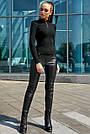 Классический чёрный гольф женский, р.42-46, вязка, фото 5