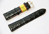 Ремешок для наручных часов кожаный Modeno Spain с классической застежкой, черный, 22 мм