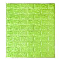 Самоклеющиеся обои Декоративная 3D панель ПВХ под зеленый кирпич