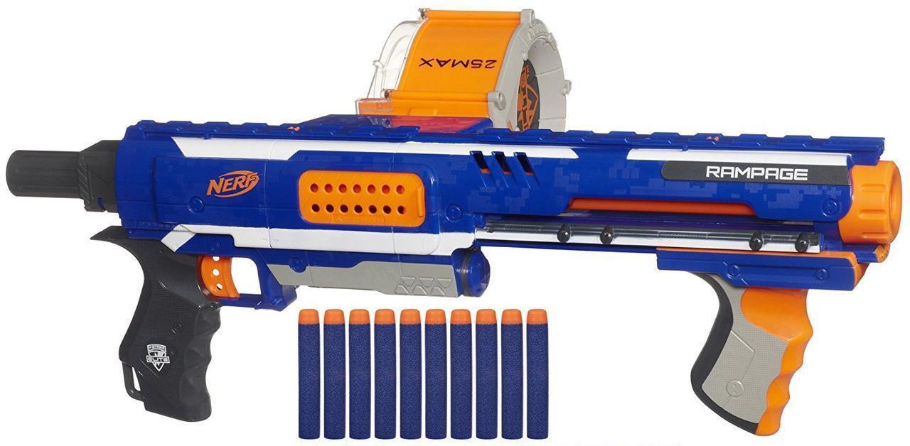 Nerf Бластер Нерф Элит Рэмпейдж ярость N-Strike Elite Rampage Blaster