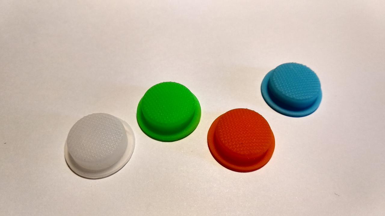 Резиновая накладка на кнопку (белая, оранжевая, зеленая, голубая – последние две светонакопительные)