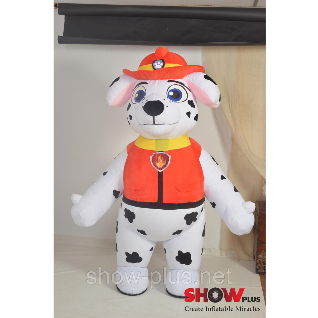 Надувной Костюм ( Пневмокостюм , Пневморобот ) Щенок Пожарник, фото 1