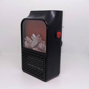 Портативный электро обогреватель с имитацией камина Flame Heater 1000W с пультом
