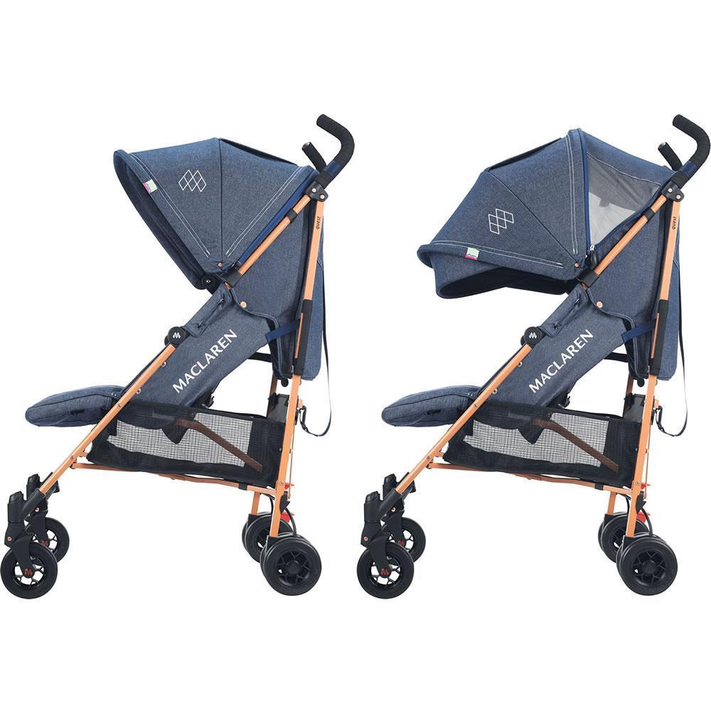 Прогулочная коляска-трость Maclaren Quest Denim Style Set Indigo