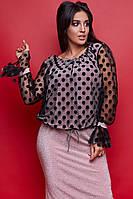 Женский нарядный юбочный костюм большого размера .Размеры:50-56.+Цвета, фото 1