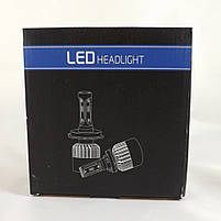 LED-лампы автомобильные H7 6500K, 8000Lm ЛЭД лампы с охлаждением +ПОДАРОК!, фото 2