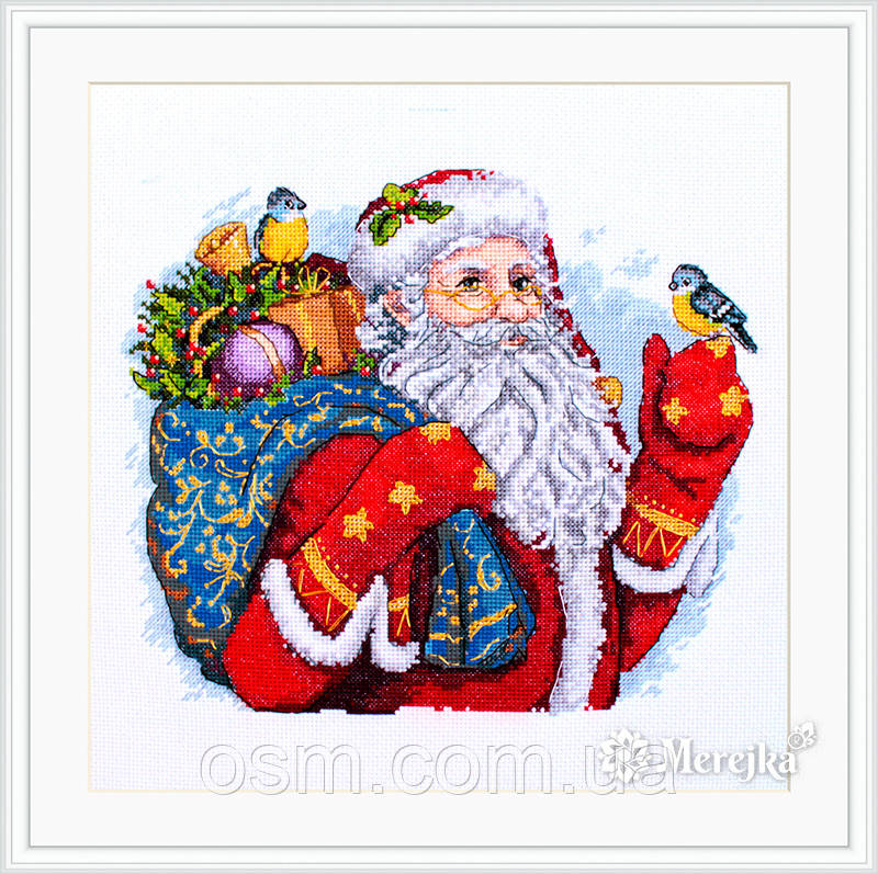 """Набор для вышивания крестом """"Счастливого Рождества!"""" Мережка"""