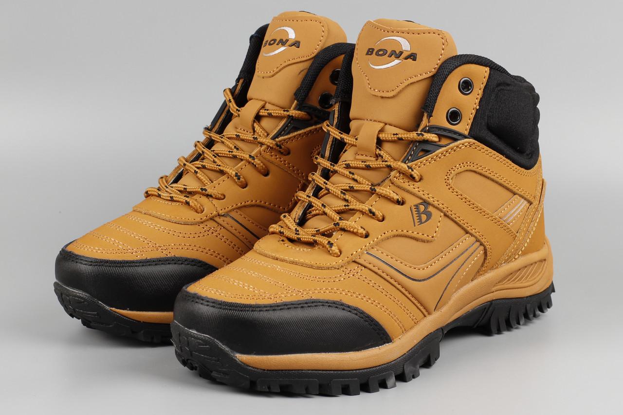 Ботинки унисекс Bona 760A-2-6 Бона подростковые женские рыжие Размеры 36 37 39