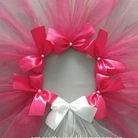 Фата для девичника (цвет ярко розовый)