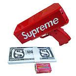 Аксессуар на вечеринки SUPREME MONEY GUN Пистолет для стрельбы деньгами, денежный пистолет, Красный (SUN0312), фото 5