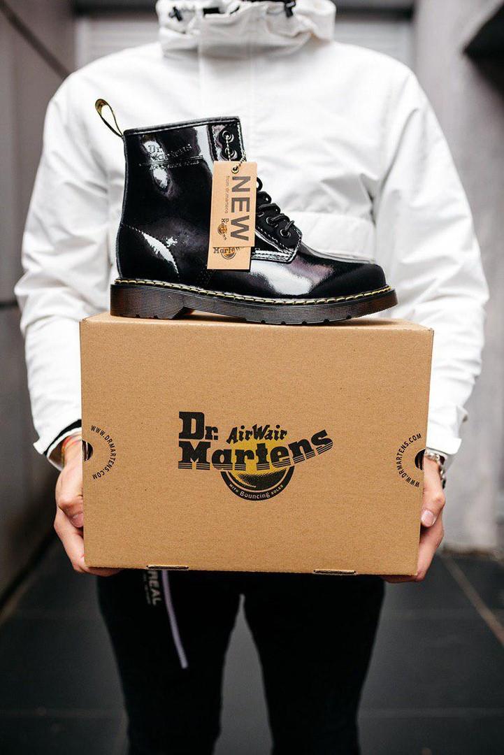 """Женские ботинки Dr.Martens Patent Platform """"Black"""""""