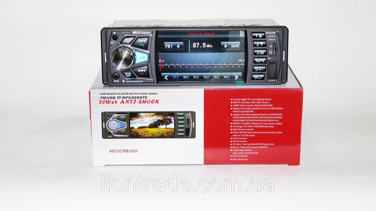 Автомагнитола MP5 Pioneer 4023 экран 4.1 Bluetooth AV-in