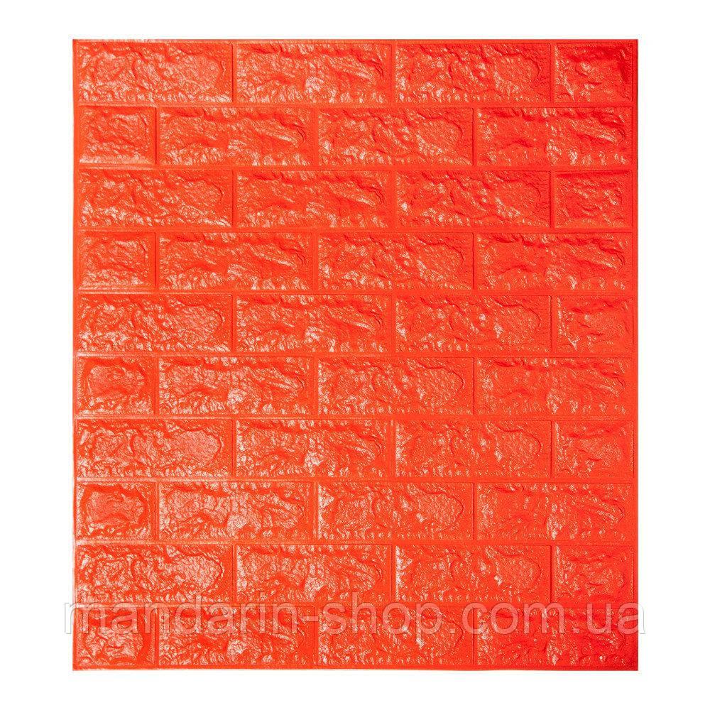 Самоклеющиеся обои Декоративная 3D панель ПВХ 1 шт, оранжевый  кирпич