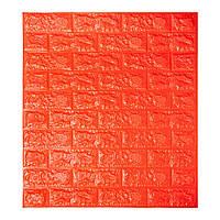 Самоклеющиеся обои Декоративная 3D панель ПВХ под оранжевый  кирпич