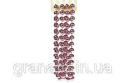 Бусы пластиковые, цвет - розовый бархат, 20мм* 2.7м