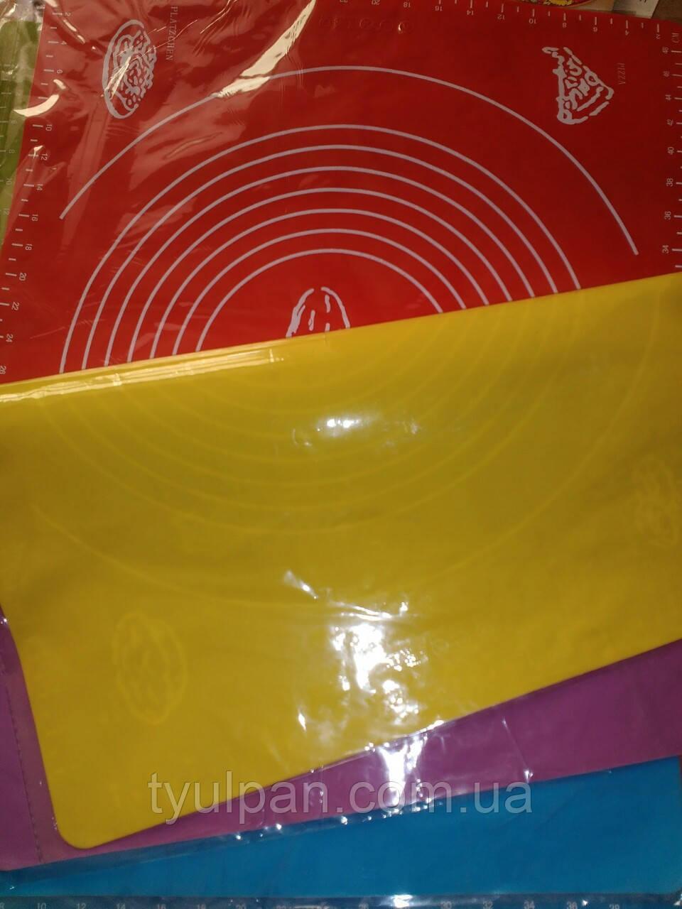 Коврик силиконовый для мастики и выпечки  с разметками 29*26