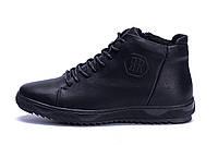 Мужские зимние кожаные ботинки KungFu  Winter  Black, фото 1