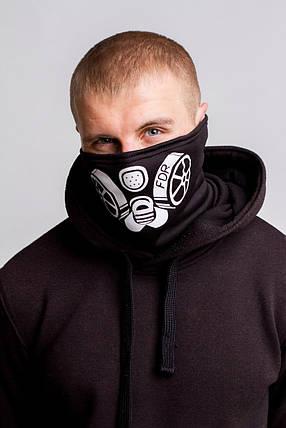 Зимняя бафф маска с рисунком Сталкер (на флисе), фото 2