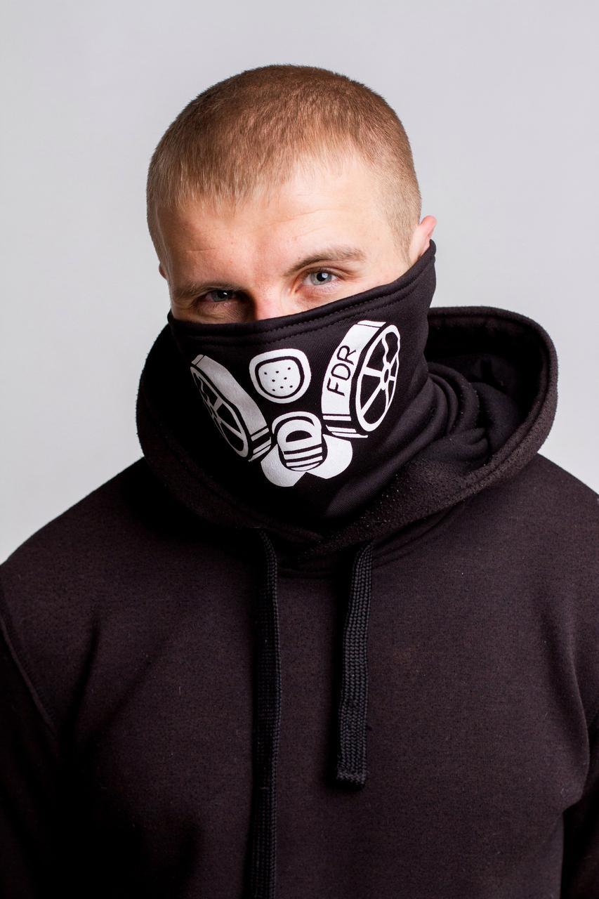 Зимняя бафф маска с рисунком Сталкер (на флисе)
