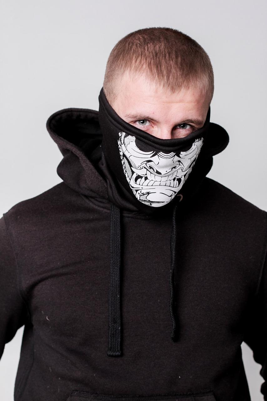 Зимняя бафф маска с рисунком Баррака (на флисе)