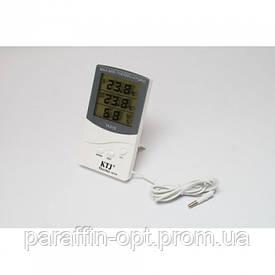 Термометр, гигрометр, метеостанция, часы + выносной датчик TA 318 Белый