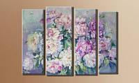 "Модульная картина ""Букет цветов"" размер 75х102 см."