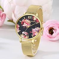 Женские наручные часы с цветами