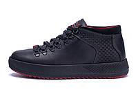 Мужские зимние кожаные ботинки ZG Black Exclusive Leather, фото 1