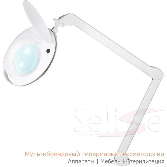 Лампа лупа косметологическая 6027 LED 9W с креплением, настольная 3D