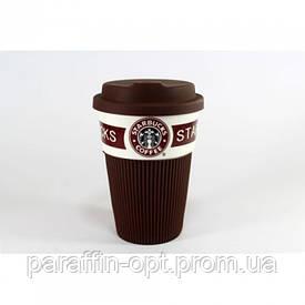 Чашка керамическая кружка Starbucks Коричневый