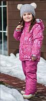 Термо-комбинезон зимний, термокомплект Лисички Baby Line, бордовый, фото 1