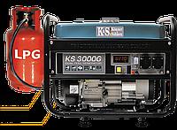 Генератор газ/бензин + 3 ПОДАРКА, Konner&Sohnen KS 3000G (2,6-3,0 кВт), медная обмотка, Гарантия 24 мес