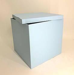 Коробка-сюрприз 700*700*700 мм, Голубая, без печати, PREMIUM